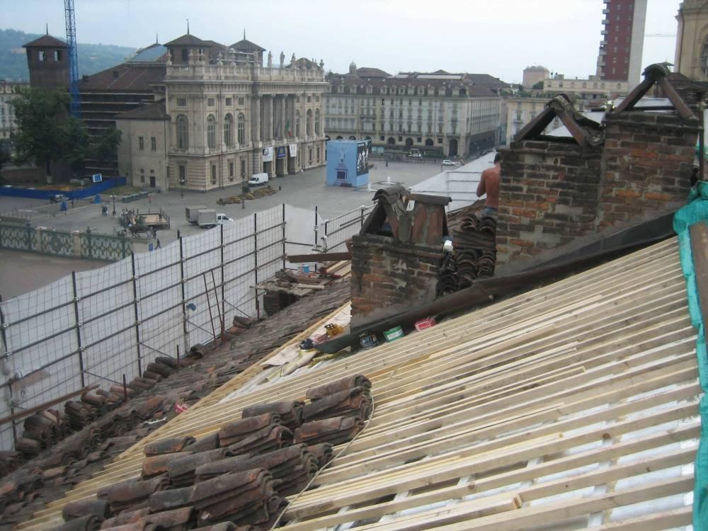 Copertura e isolamento tetto Palazzo Chiablese – Torino