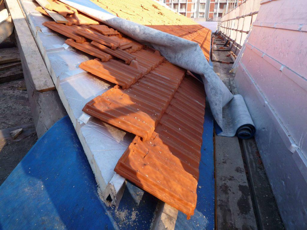 Copertura e coibentazione tetto – case ATC Torino